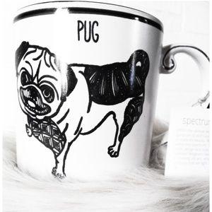 Spectrum Oversized Pug Coffee Mug NWT
